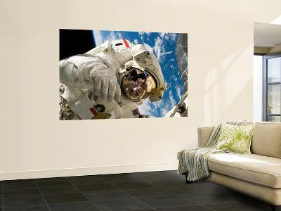 An Astronaut Mission Specialist Participates in the Mission's Extravehicular Activity--Wall Mural