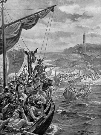 An Attack of the Danes on Ireland, 9th Century Ad-Henry Payne-Giclee Print