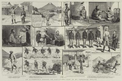 An Attempted Ascent of Fusi-Yama, Run in by Japanese Police-Godefroy Durand-Giclee Print