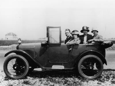 An Austin Seven Chummy with Passengers, 1925--Photographic Print