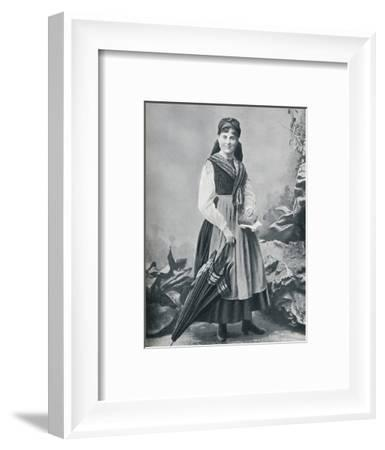 An Austrian girl in the national costume, 1912-R Lechner-Framed Photographic Print