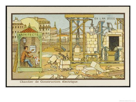 An Automated Building-Site-Jean Marc Cote-Giclee Print