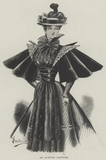 An Autumn Costume--Giclee Print