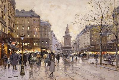 An Autumn Evening in Paris-Eugene Galien-Laloue-Giclee Print