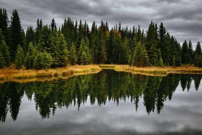 An Autumn Reflection During Clearing Weather In The Tetons Near Jackson, Wyoming-Jay Goodrich-Photographic Print