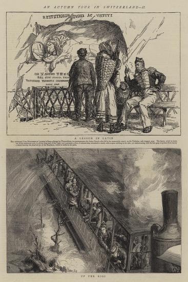 An Autumn Tour in Switzerland, II-Sydney Prior Hall-Giclee Print