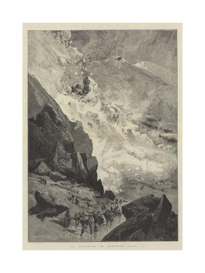 An Avalanche in Northern Italy-Charles Auguste Loye-Giclee Print