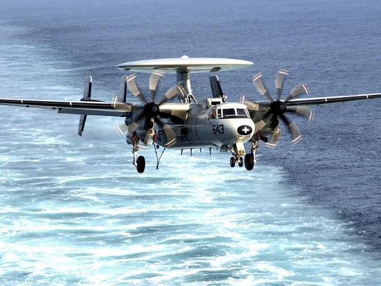 An E-2C Hawkeye Prepares For An Arrested Landing-Stocktrek Images-Photographic Print