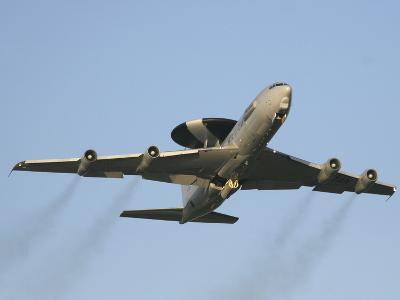 An E-3 Sentry Taking Off from the NATO AWACS Base, Germany-Stocktrek Images-Photographic Print