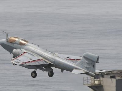 An EA-6B Prowler Lifts Off from the Flight Deck of USS Harry S. Truman-Stocktrek Images-Photographic Print
