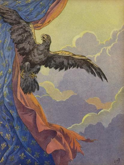 An Eagle Soaring into the Sky--Giclee Print