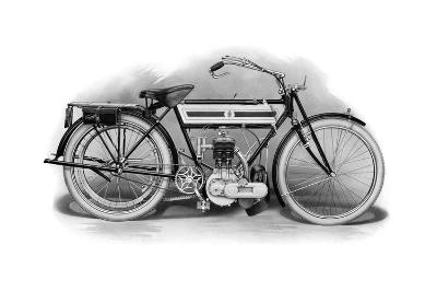 An Early Triumph Motorcycle, 1911-1912--Giclee Print