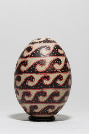 An Easter Egg with a Repeating Wave Motif-Joe Petersburger-Photographic Print
