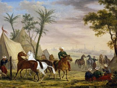 An Eastern Encampment, by Charles Bellier--Giclee Print
