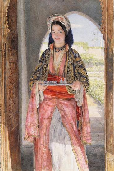 An Eastern Girl Carrying a Tray, 1859-John Frederick Lewis-Giclee Print