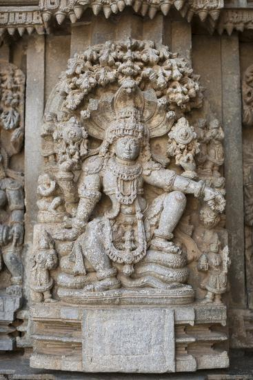 An Elaborate Carving of the Hindu God Vishnu-Kelley Miller-Photographic Print