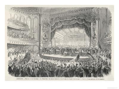 An Election Meeting in Chicago Opera House: in the Outcome General Grant Will be Elected--Giclee Print