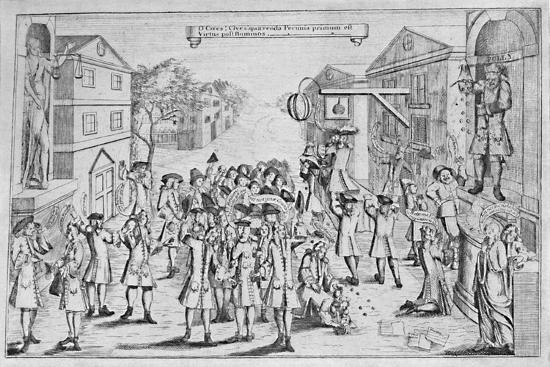 'An Election Won By Bribery', 1727, (1904)-Unknown-Giclee Print