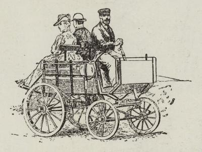An Electric Dog-Cart--Giclee Print