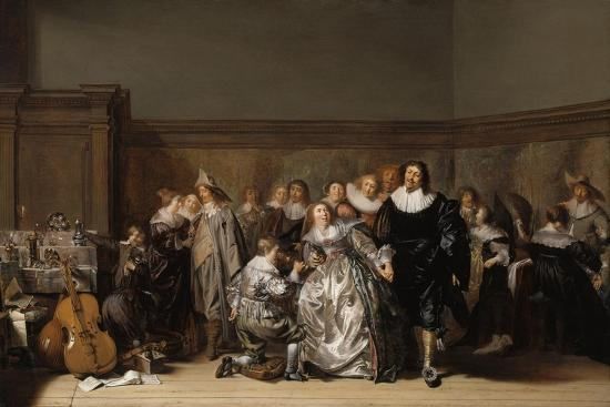 An Elegant Company, 1632-Pieter Codde-Giclee Print