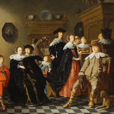 An Elegant Family in an Interior-Jan Olis-Giclee Print
