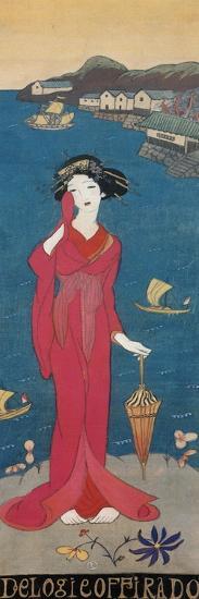 An Elegy for Hirado, Japan-Yumeji Takehisa-Giclee Print