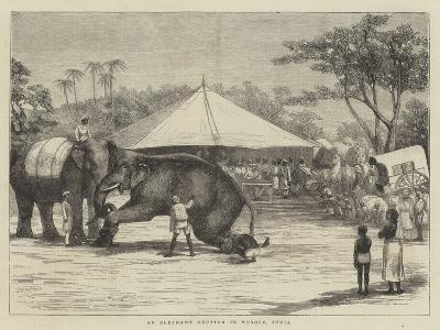 An Elephant Auction in Mysore, India--Giclee Print