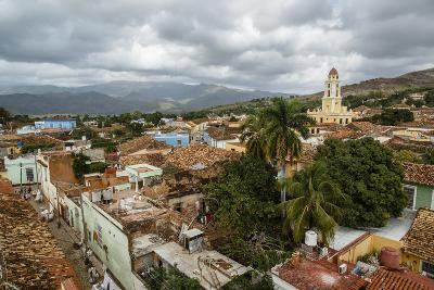 An Elevated View of the Terracotta Roofs and the Bell Tower of the Museo Nacional De La Lucha-Yadid Levy-Photographic Print