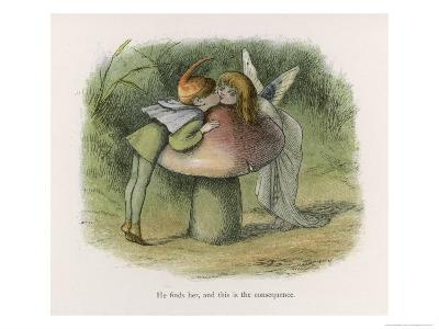 An Elf-Fairy Romance: He Finds Her and This is the Consequence-Richard Doyle-Giclee Print