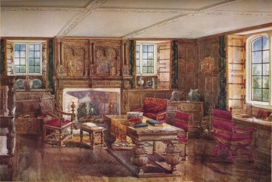 An Elizabethan Living Room, c19th century, (1923)-Unknown-Giclee Print