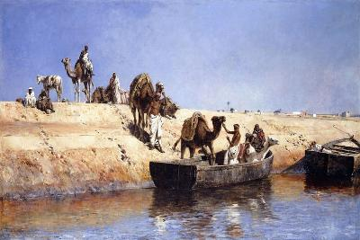 An Embarkment of Camels on the Beach at Sale, Maroc, 1880-Edwin Lord Weeks-Giclee Print