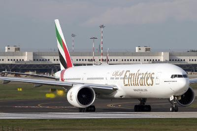 An Emirates Boeing 777 at Milano Malpensa Airport, Italy--Photographic Print