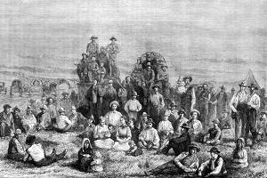 An Encampment of Mormon Converts in the Desert, C1846