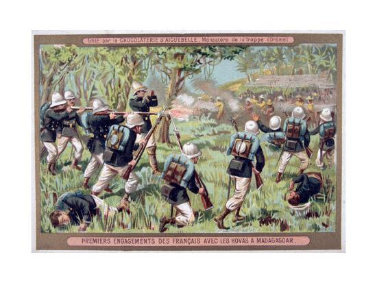 An Engagement Against the Hovas of Madagascar, 1883-1896--Giclee Print
