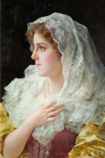 An English Beauty-Federigo Andreotti-Giclee Print