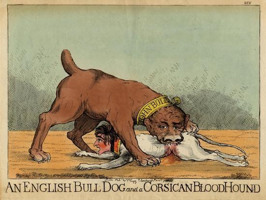 An English Bull Dog and a Corsican Blood Hound, C.1803--Giclee Print