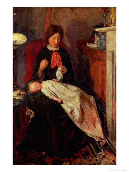 An English Fireside of 1854-5-Ford Madox Brown-Giclee Print