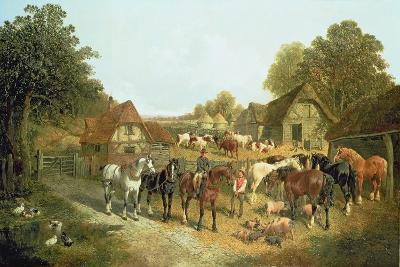 An English Homestead-John Frederick Herring I-Giclee Print