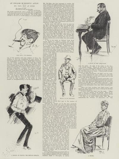 An English Humoristic Artist, Mr Phil May at Home-Phil May-Giclee Print