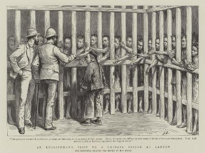 An Englishman's Visit to a Chinese Prison at Canton--Giclee Print