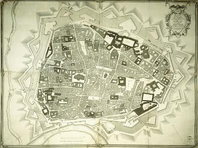 An Engraved Plan of Vienna, 1770-Joseph Anton Nagel-Giclee Print