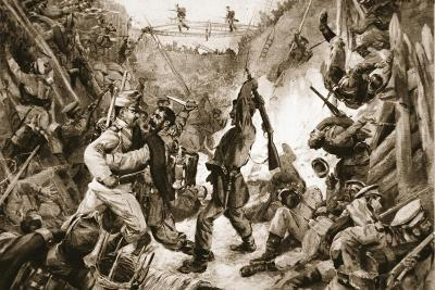 An Episode in the Long Struggle for Przemysl: Hand-To-Hand Fighting in a Trench--Giclee Print