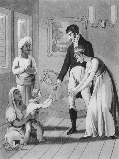 An European Lady and Her Family-Charles D'oyly-Giclee Print