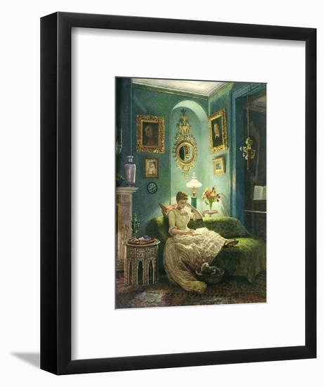 An Evening at Home, 1888-Edward John Poynter-Framed Giclee Print