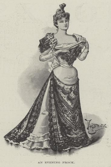 An Evening Frock--Giclee Print