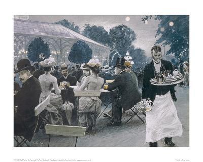 An Evening in the Tivoli Gardens in Copenhagen-Paul Fischer-Giclee Print