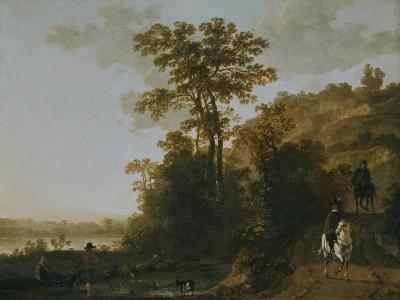 An Evening Ride Near a River-Aelbert Cuyp-Giclee Print