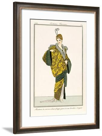 An Evening Silk Coat with Silver Threads, Fashion Plate from 'Costume Parisien' 1814--Framed Giclee Print