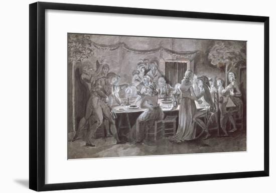 An Evening Wedding Meal-Jacques Bertaux-Framed Premium Giclee Print