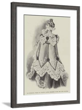 An Evening Wrap of White Cloth Trimmed with Jet and Silver--Framed Giclee Print